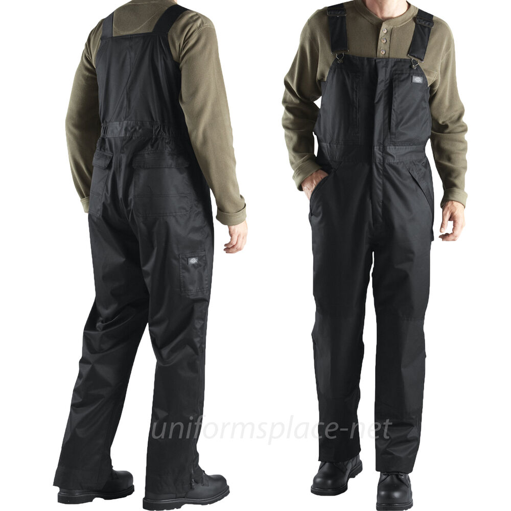 Allstate Email Sign In >> Dickies Bib Overalls Mens Vigor Twill Waterproof LINED TB841 Black Overalls Pant | eBay