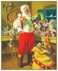 Victorian Father Christmas Santa Claus with Presents Counted Cross Stitch Chart