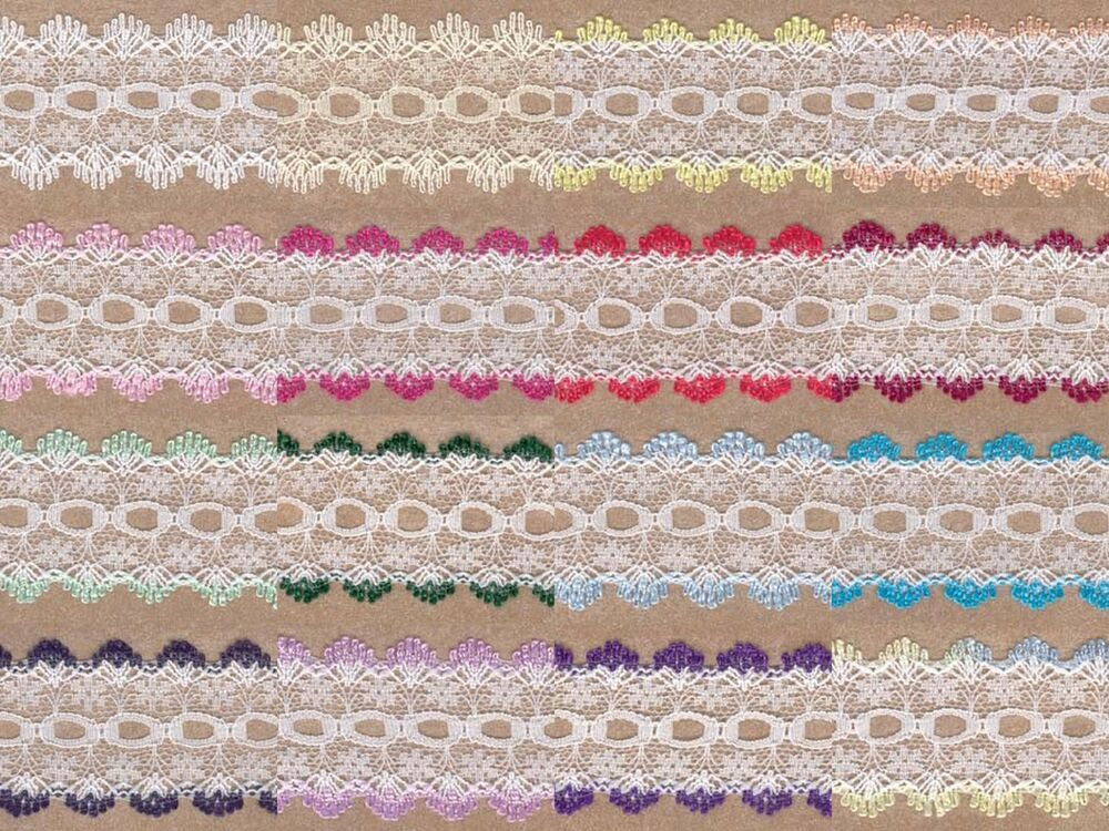 Knitting in lace eyelet Dovecraft 5 metres 35mm wide many colours to choose f...