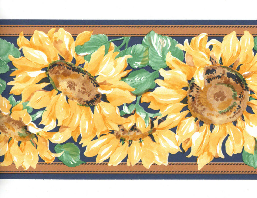 country sunflower wallpaper borders