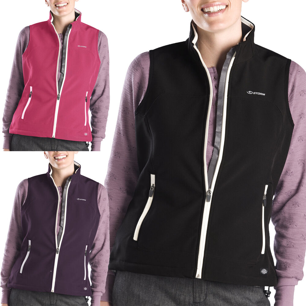 Dickies Womens Vests Softshell Vest Sleeveless Jackets