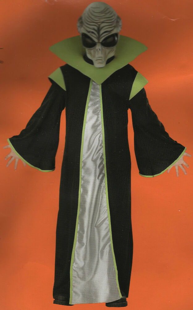 Alien costume small child boys girls area 51 sci fi outer for Outer space outfit