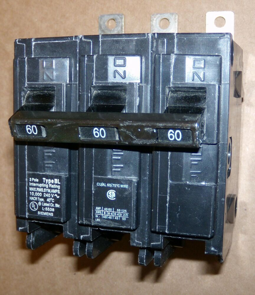 B120hh Siemens Circuit Breaker Auto Electrical Wiring Diagram Fd63f250 New Used And Obsolete X Ite 60 Amp Cat B360 Type Bl