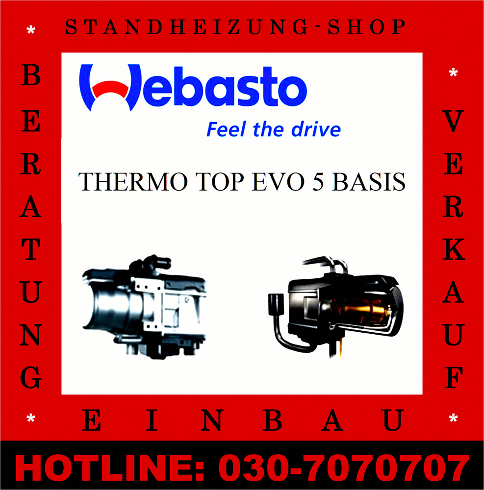 webasto thermo top evo 5 basis diesel standheizung ebay. Black Bedroom Furniture Sets. Home Design Ideas