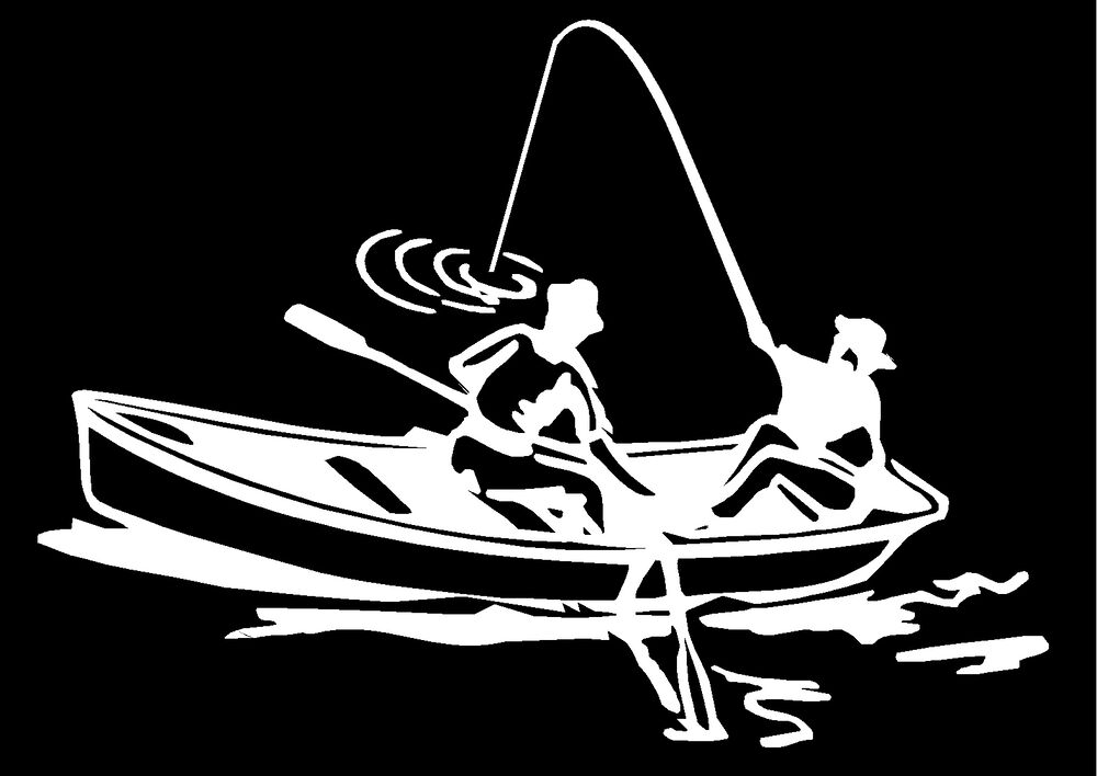 Fishing boat truck car window vinyl decal bumper stickers for Fishing car stickers