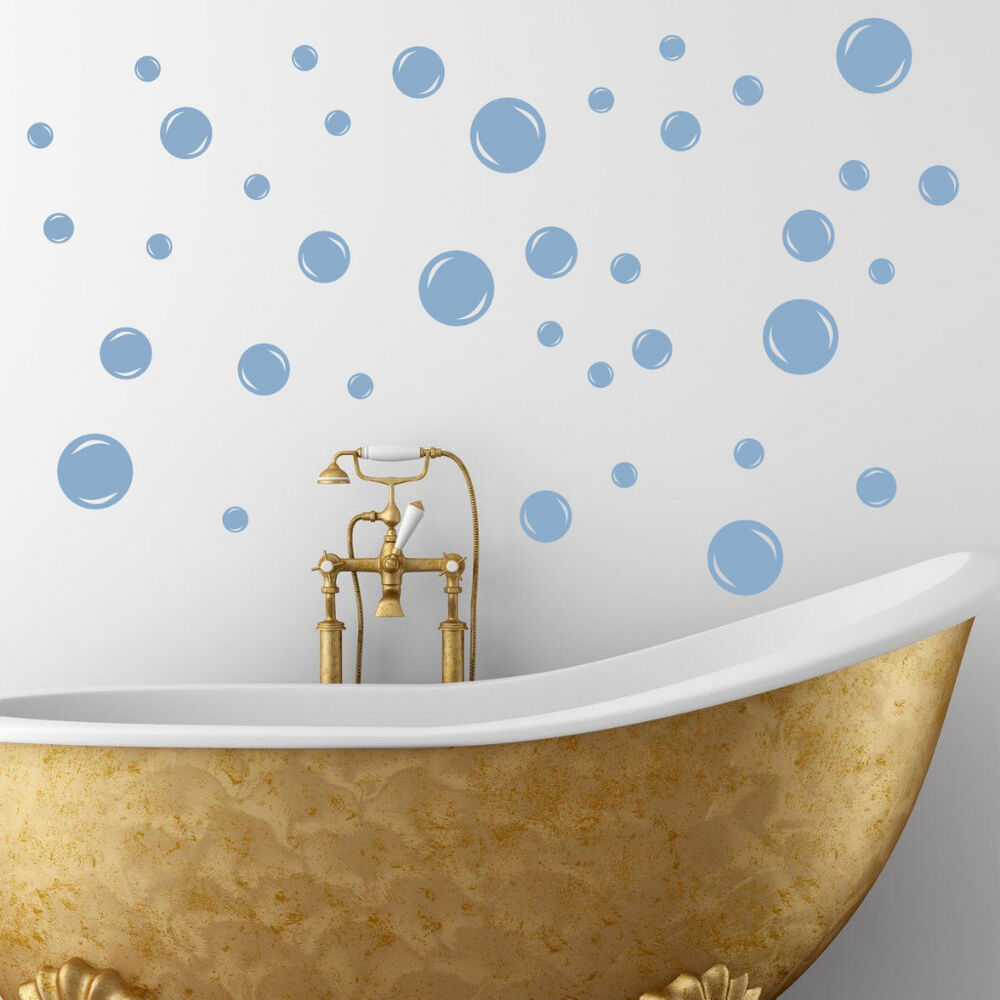 Bathroom Wall Art Bubbles : Bubble bath bubbles bathroom soak tub vinyl wall decal