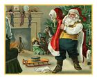 Victorian Christmas Santa Claus #8 Counted Cross Stitch Chart
