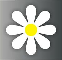 18 Daisy flowers car stickers, decals window, wall 50mm