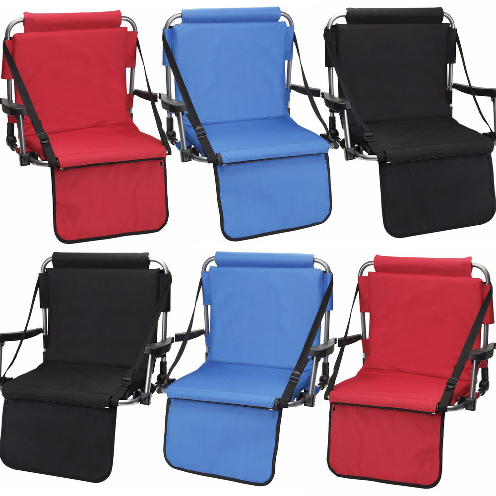 6 Barton Outdoors Stadium Chairs W Armrests Amp Back