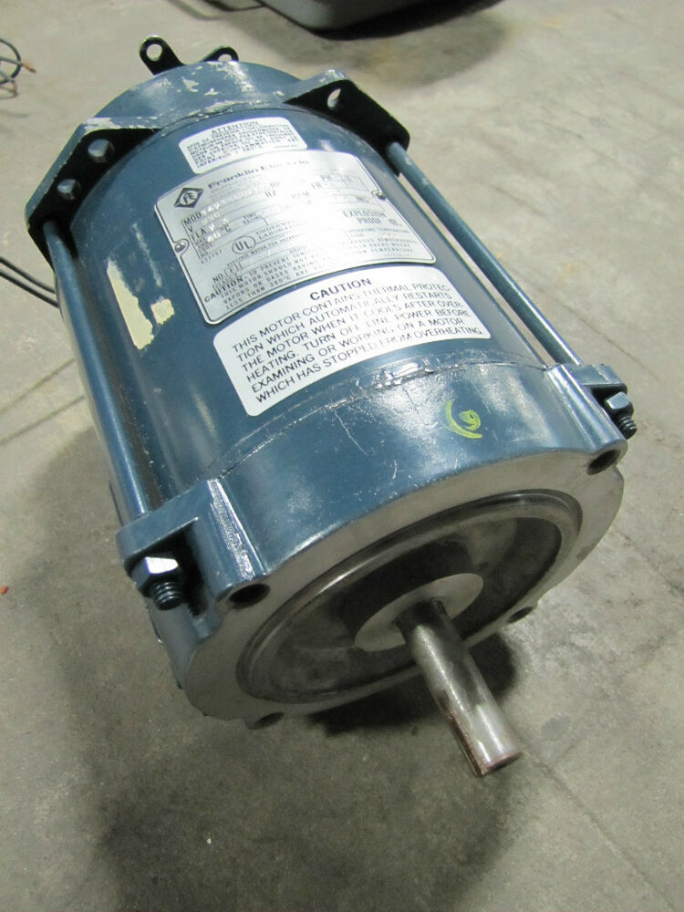 Franklin electric explosion proof motor 1 4hp 1 4 hp 230v for Explosion proof dc motor