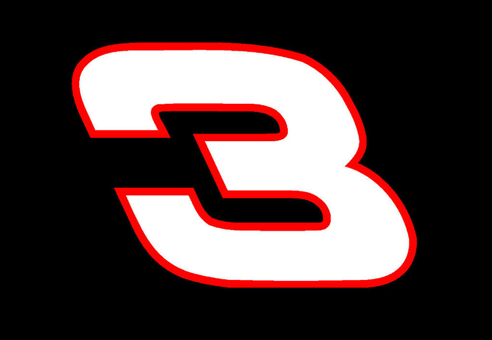 Dale earnhardt sr 3 truck car window vinyl decal sticker for Window number