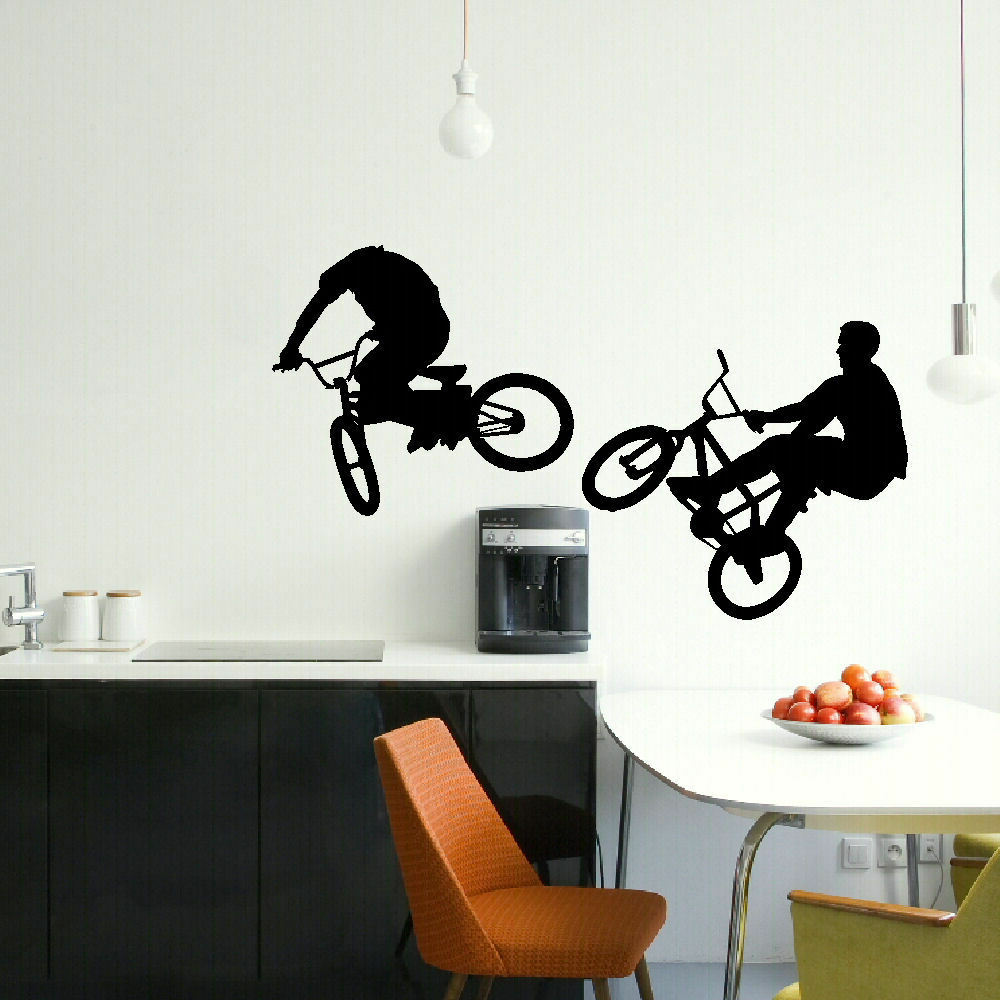 large bmx bike childrens bedroom wall mural giant graphic children s jungle wall stickers by parkins interiors