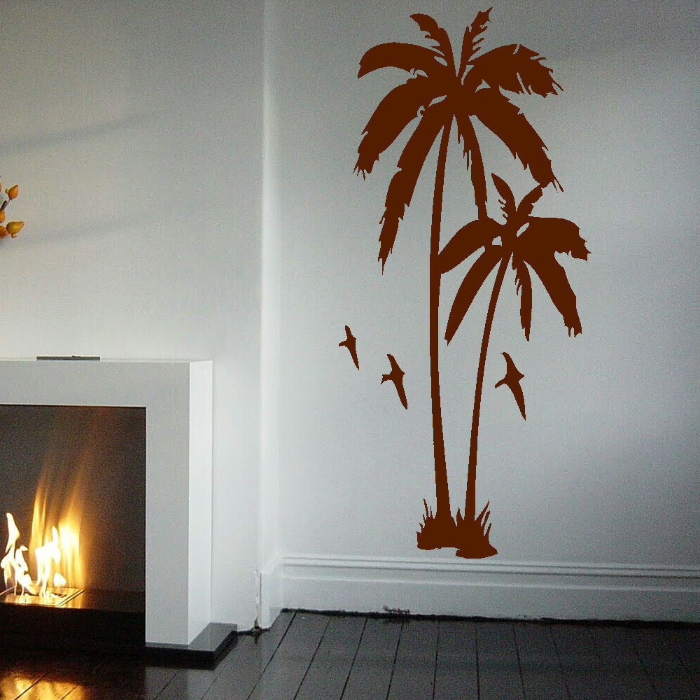 Large palm tree hall bedroom wall art mural giant graphic for Create wall mural