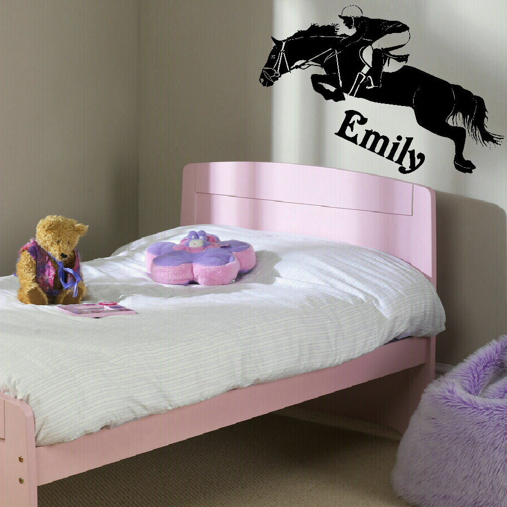 Bedroom Murals Uk: LARGE PERSONALISED HORSE CHILDRENS BEDROOM WALL MURAL