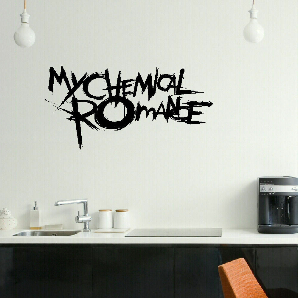 Modern Bedroom Ceiling Decorations Emo Bedroom Decor Bedroom Ideas For Young Adults Men Zombie Bedroom Ideas: LARGE MY CHEMICAL ROMANCE EMO BEDROOM WALL MURAL ART