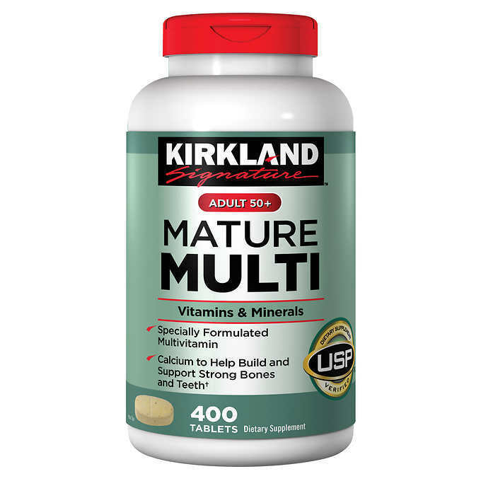 kirkland adult multi mature vitamin vitamins minerals daily tablets mineral signature multivitamin multivitamins adults ingredients centrum supplement amp