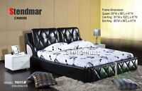 NEW MODERN STYLE LEATHERETTE PLATFORM BED CN9055