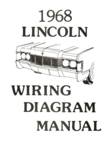 LINCOLN 1968 Continental Wiring Diagram Manual 68 | eBay
