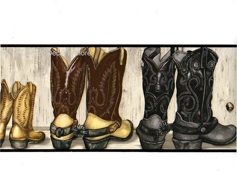 Country Western Theme Cowboy Cowgirl Leather Boots SADDLE ...