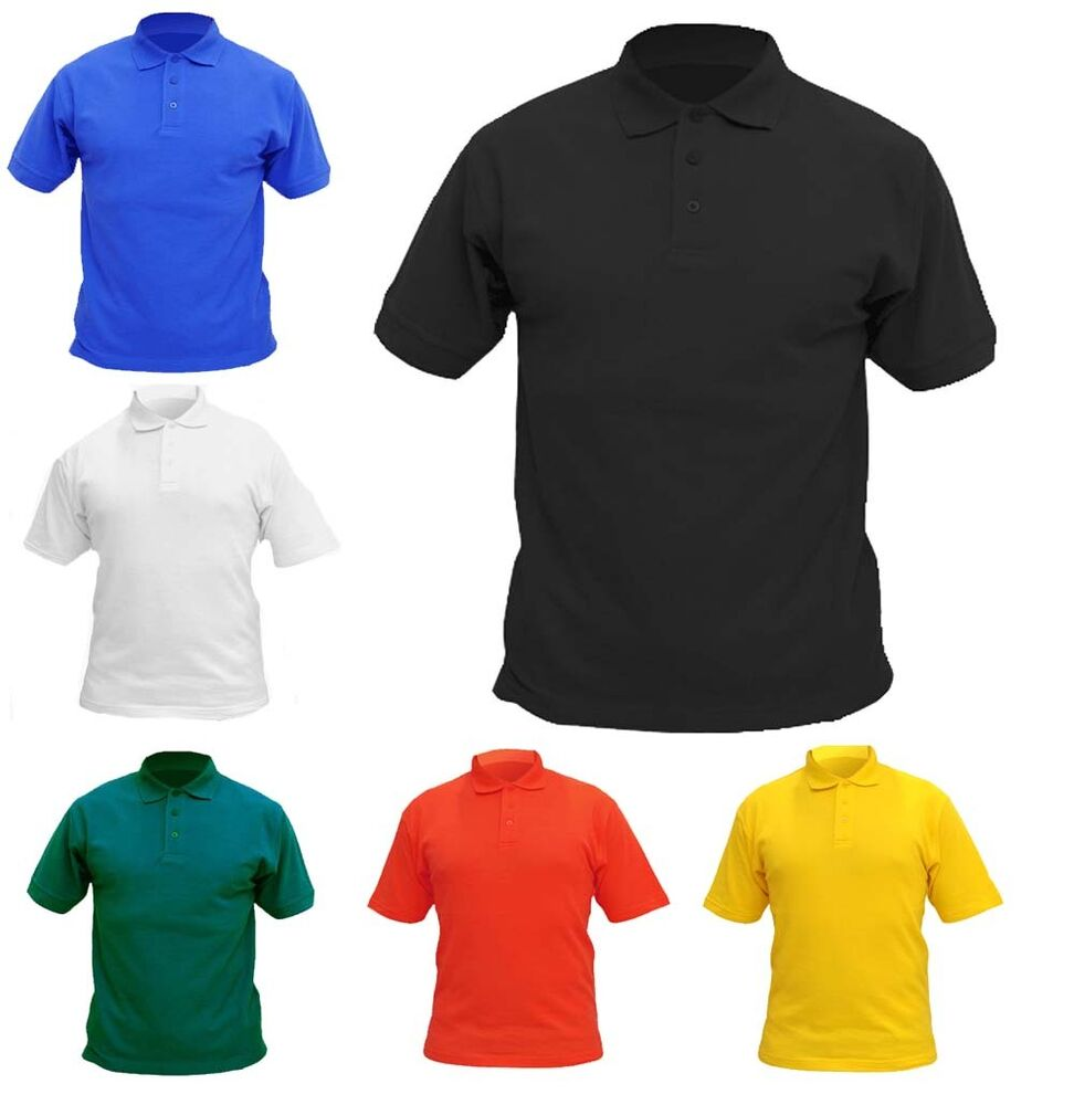 Boys Girls Children Polo T Shirts Size 2 To 13 School