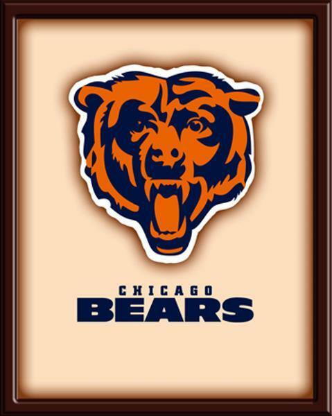 Chicago Bears Wall Art deluxe 3d hard wood wall art - chicago bears wall art - bears logo