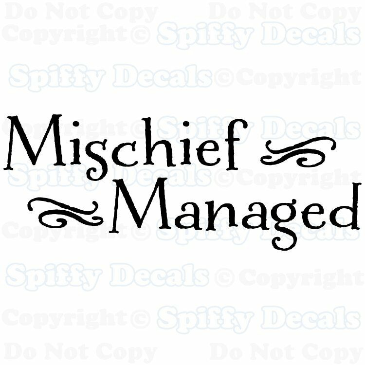 mischief managed harry potter quote vinyl wall decal