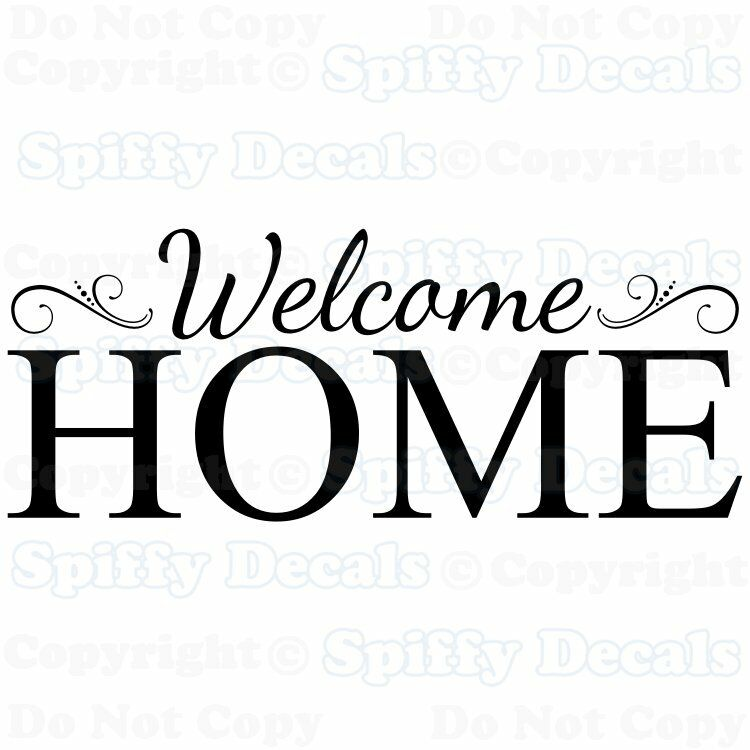 Welcome Home Family Removable Vinyl Wall Decals Sticker
