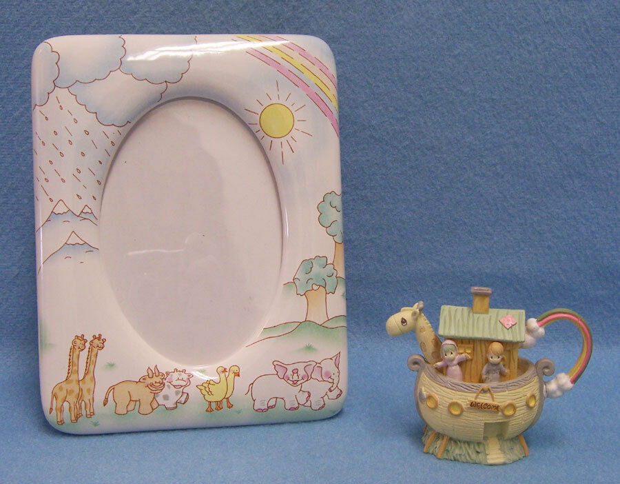 Russ Noahs Ark Ceramic Childs Picture Frame With Ark