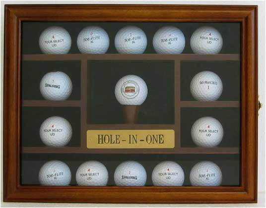 15 Golf Ball Display Case Rack Holder Hole In One Real