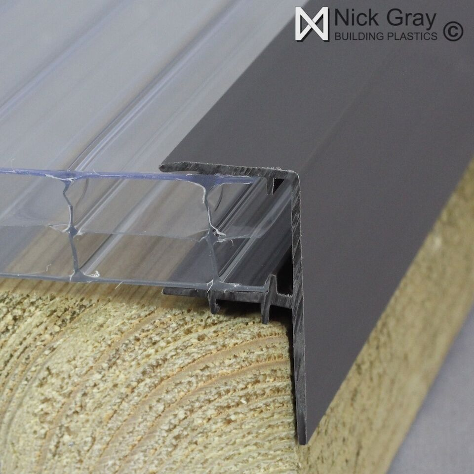 Plastic F Section For Polycarbonate Roofing Sheets Ebay