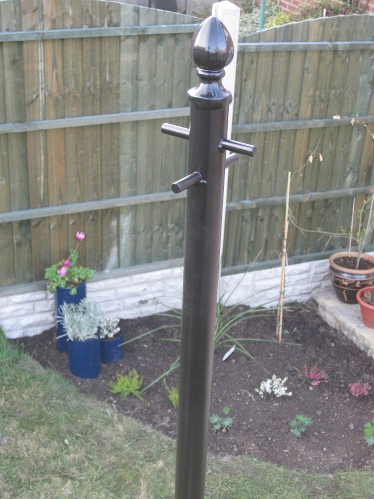 Clothes Line Pole Washing Line Post Ornate Steel