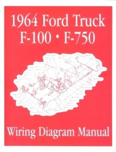 FORD 1964 F100 - F750 Truck Wiring Diagram Manual 64 | eBay