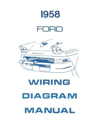 ford nc fairlane wiring diagram ford 1958 custom, fairlaine & fairlane 500 wiring diagram ... #12