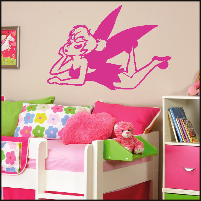 Large Tinkerbell Childrens Kids Bedroom Wall Mural Sticker