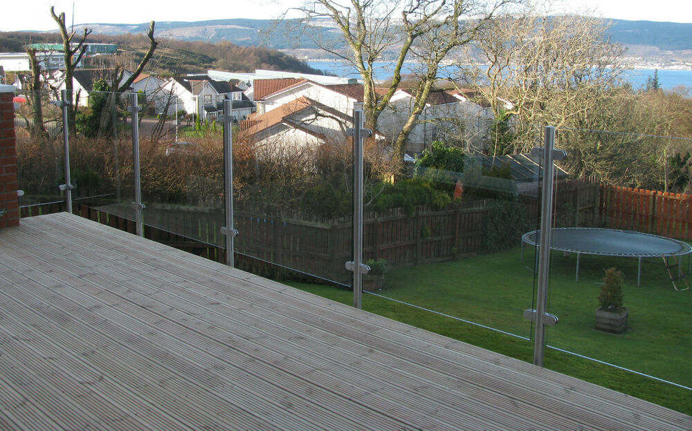 Stainless steel patio glass balustrade garden fencing