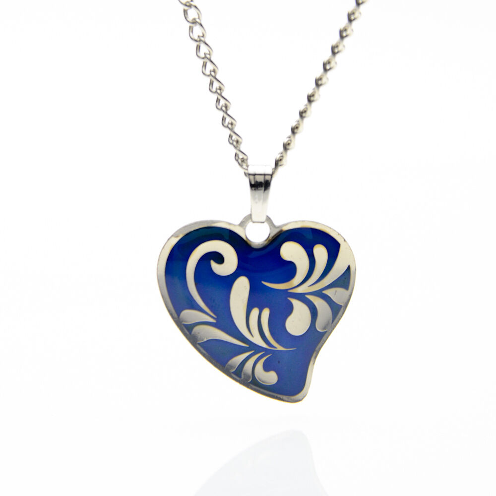 Celtic Coiled Heart Mood Colour Changing Necklace