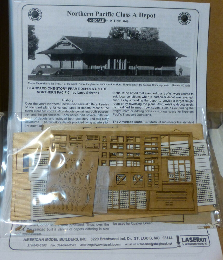 American model builders n 649 np depot kit ebay for American builders
