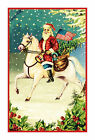 Victorian Father Christmas Santa Claus  # 215 Counted Cross Stitch Chart