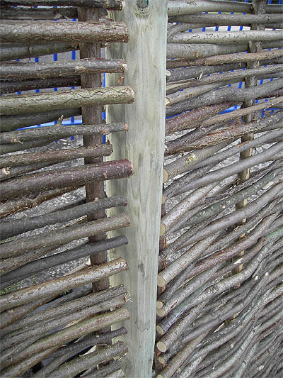 Wooden fence fencing posts round mm dia ft long for