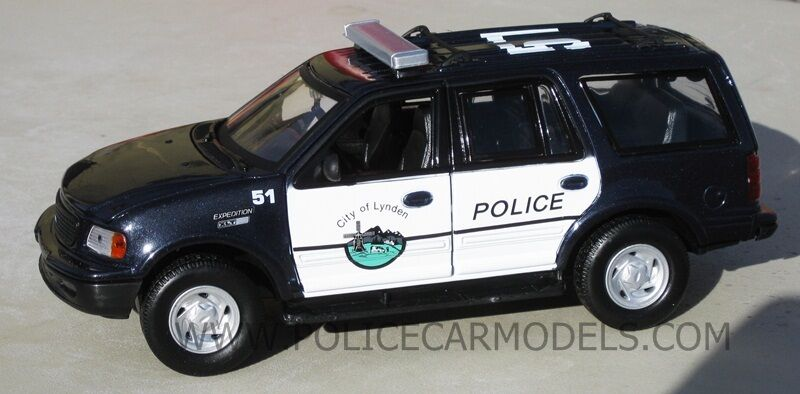Motormax 1 24 Lynden Wa Washington Police Ford Expedition