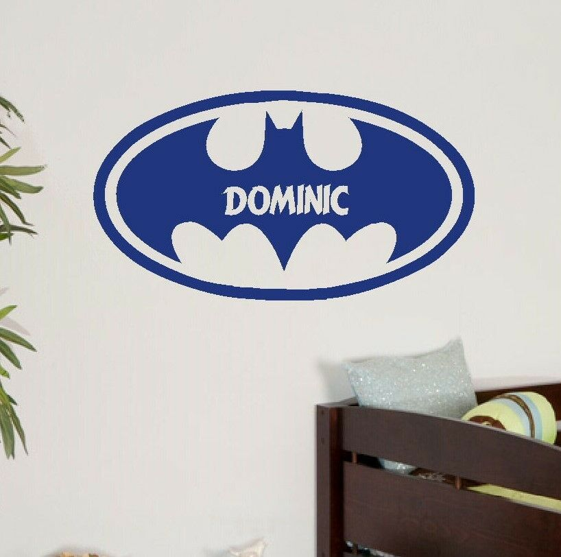 giant personalised batman logo childrens bedroom wall welsh flag wall art giant sticker mural graphic self