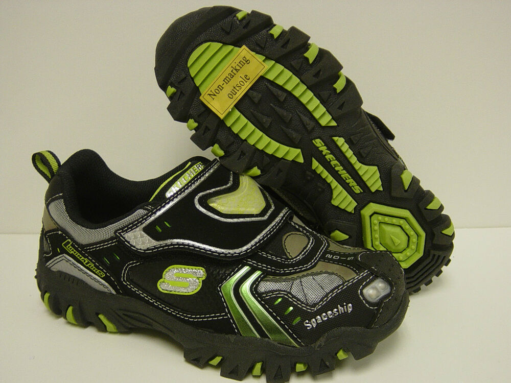 new boys sz 5 toddler skechers luminators spaceship light up sneakers. Black Bedroom Furniture Sets. Home Design Ideas