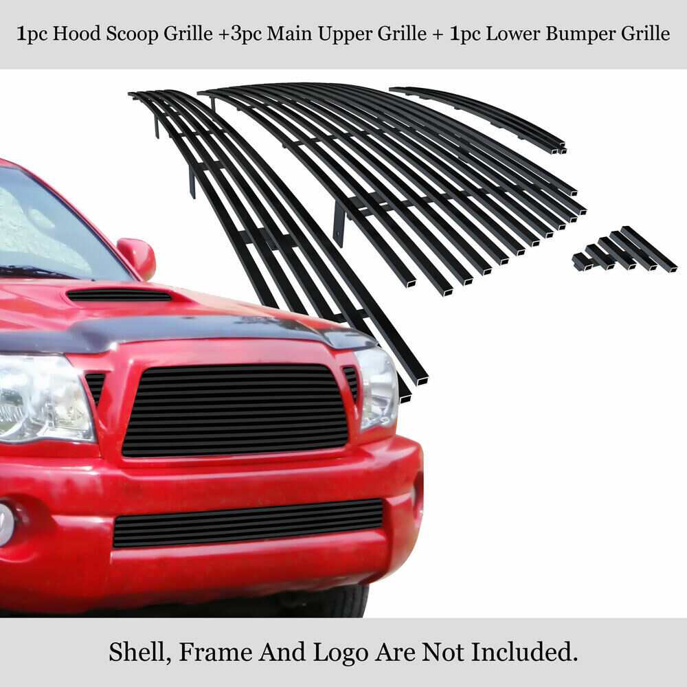fits 05 10 toyota tacoma trd sport black billet grille. Black Bedroom Furniture Sets. Home Design Ideas