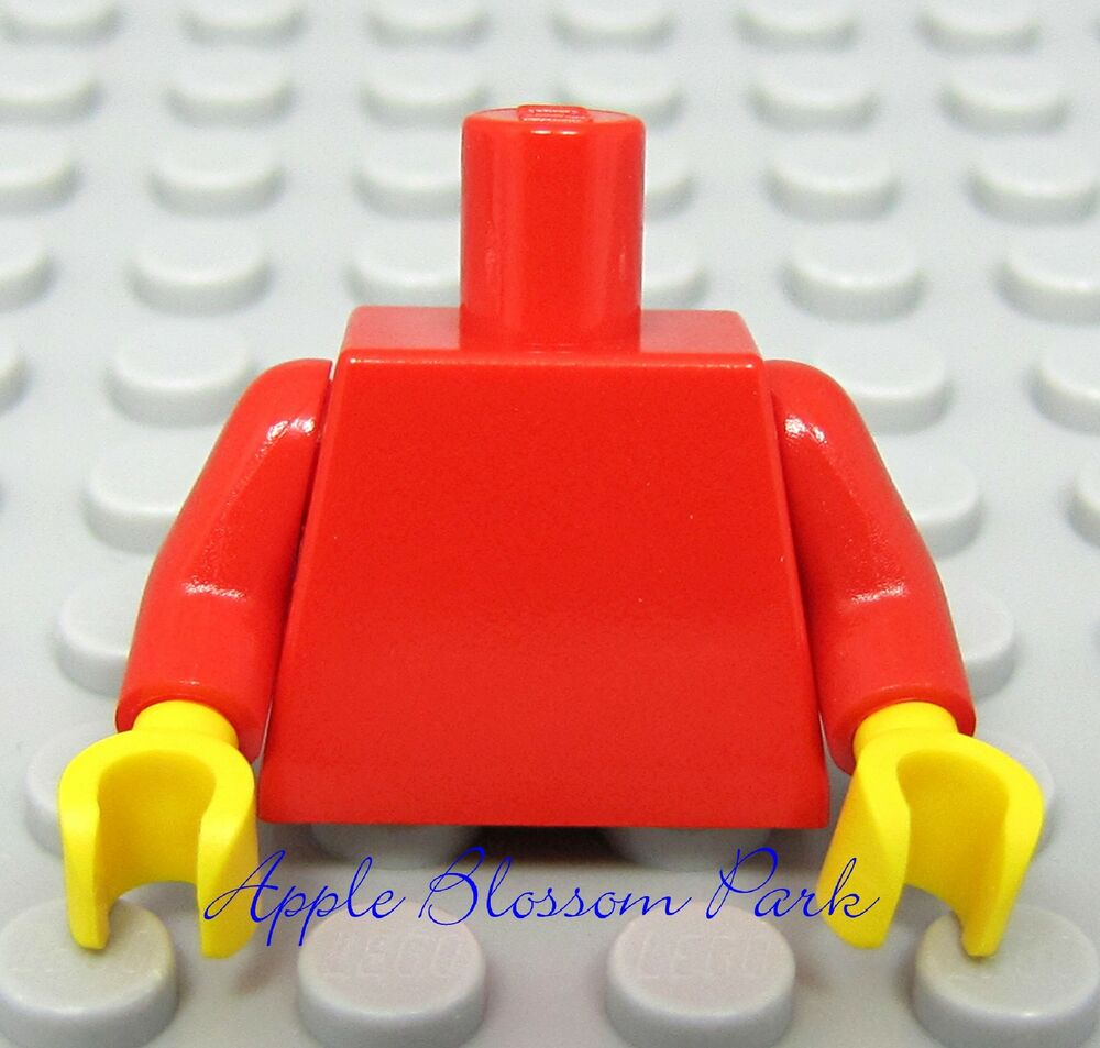 new lego girl boy minifig plain red torso minifigure body. Black Bedroom Furniture Sets. Home Design Ideas