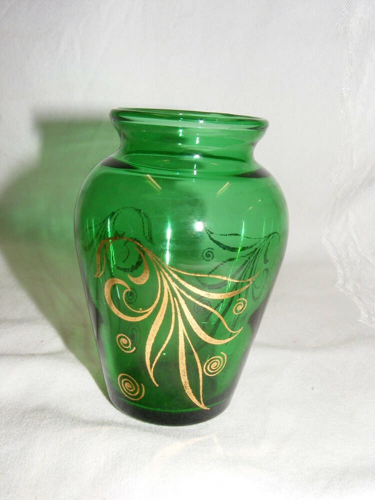 S Glass And Gold Vase