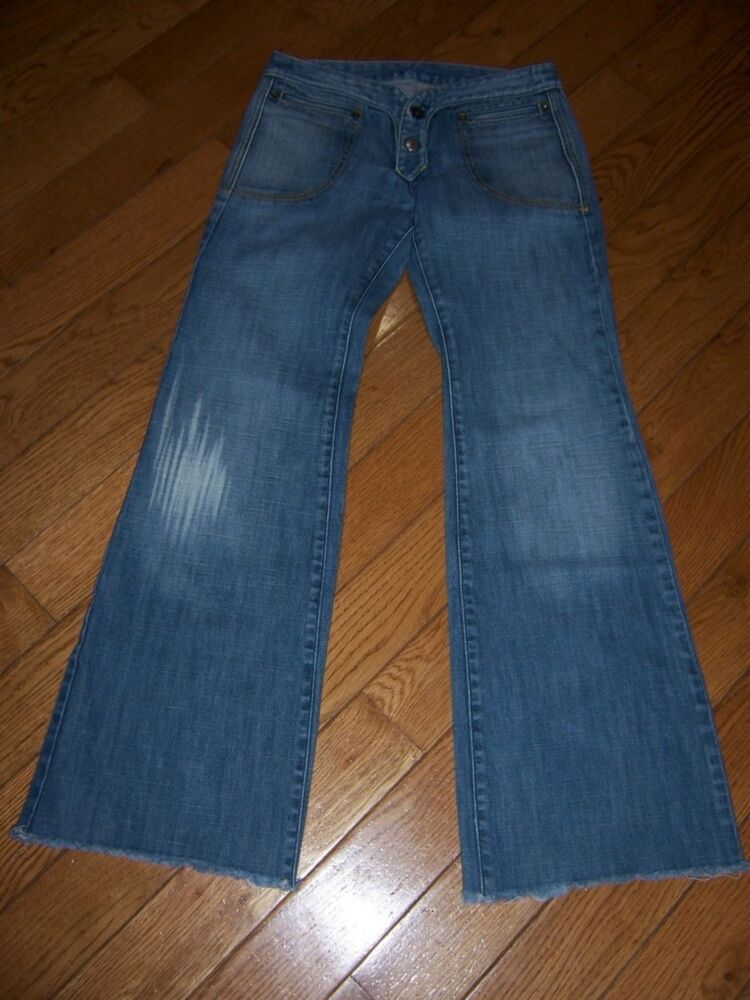 DIESEL SLEEVY BOOT CUT REGULAR FIT JEANS 25 X 30 FRAYED BOTTOM LOOK AWESOME | eBay