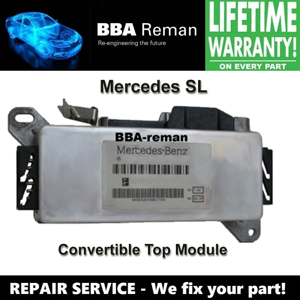 Mercedes benz sl convertible soft top roof module repair for Mercedes benz house of imports service