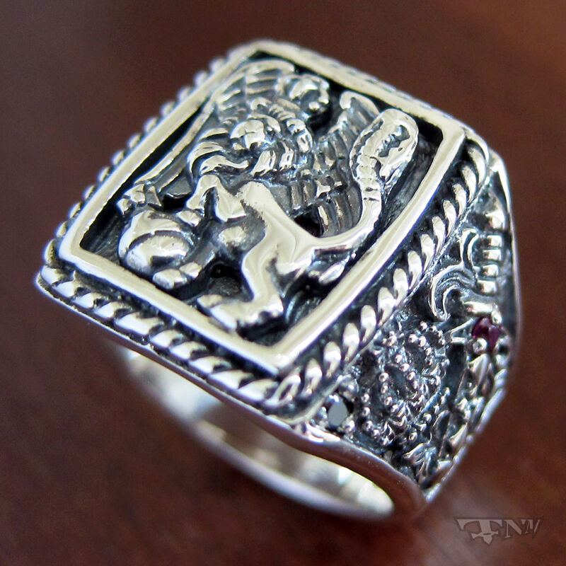 925 silver lion ring
