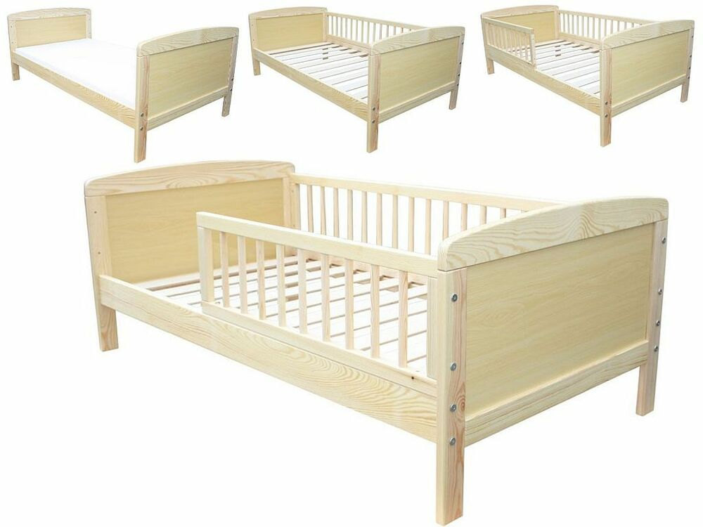 kinderbett juniorbett massiv 140 x 70 neu ebay. Black Bedroom Furniture Sets. Home Design Ideas