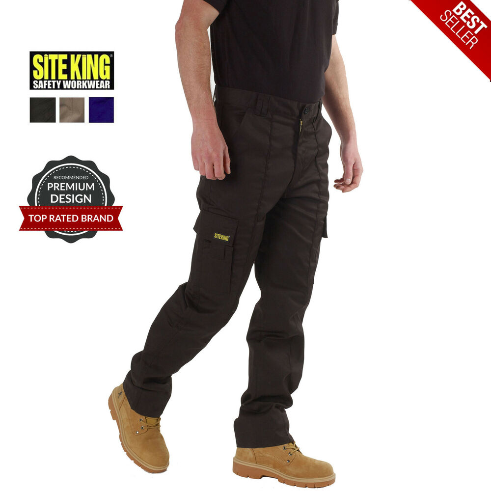 Mens Cargo Combat Work Trousers Size 28 to 52 Black Navy Khaki By ...